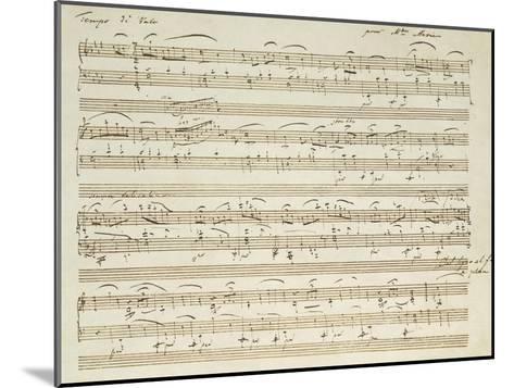 Handwritten Score for Waltz in Flat Major--Mounted Giclee Print