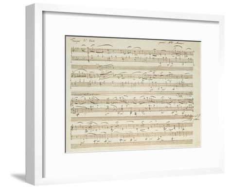 Handwritten Score for Waltz in Flat Major--Framed Art Print