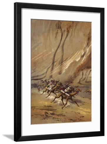 A Whirlwind of Sand in Sahara--Framed Art Print
