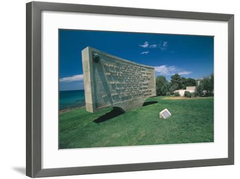 Anzac Plaque, Ari Burnu--Framed Art Print