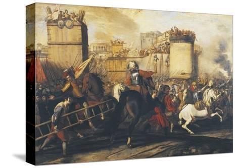 Assault on Fortress--Stretched Canvas Print