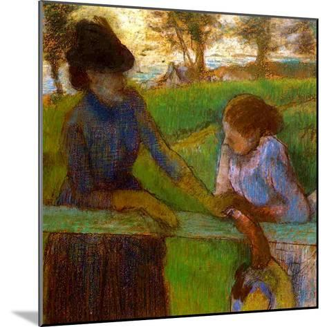 The Conversation, C.1889-Edgar Degas-Mounted Giclee Print