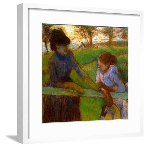 The Conversation, C.1889-Edgar Degas-Framed Art Print