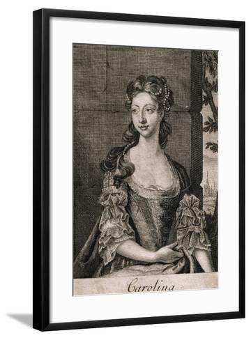 Portrait of Carolina Wilhelmina of Ansbach--Framed Art Print
