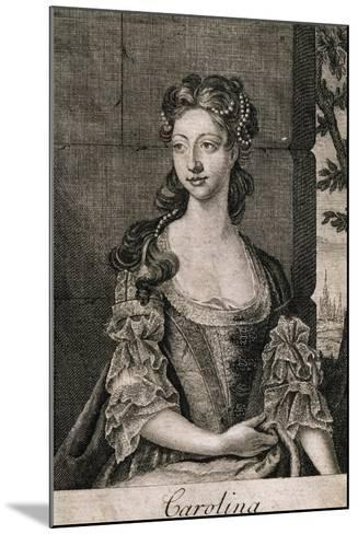 Portrait of Carolina Wilhelmina of Ansbach--Mounted Giclee Print