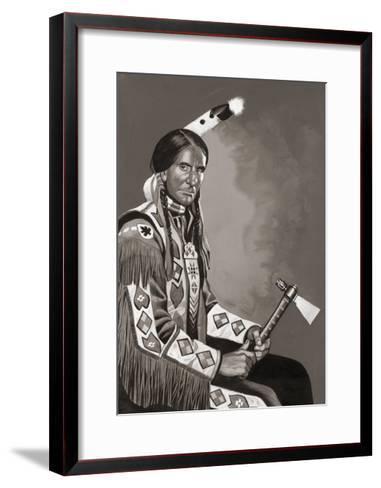 Grey Owl-Ron Embleton-Framed Art Print