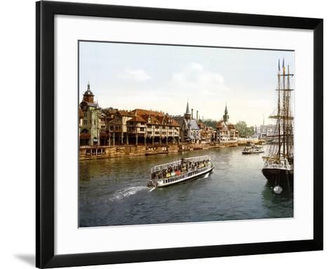 Le Vieux Paris, Vue Sue La Seine, Paris--Framed Art Print
