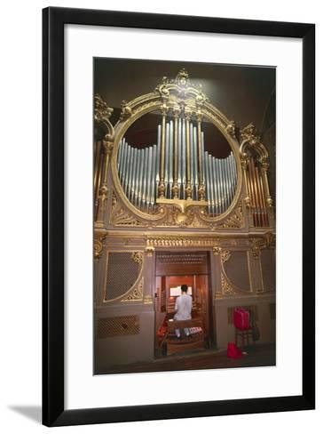 Organ Player--Framed Art Print