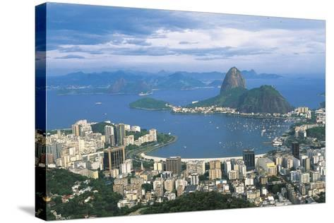 View of Rio De Janeiro and Sugarloaf Mountain--Stretched Canvas Print