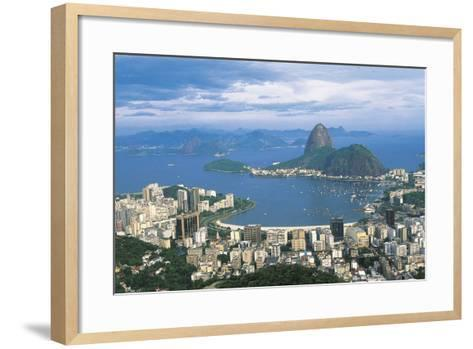 View of Rio De Janeiro and Sugarloaf Mountain--Framed Art Print