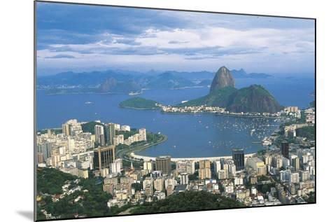 View of Rio De Janeiro and Sugarloaf Mountain--Mounted Photographic Print