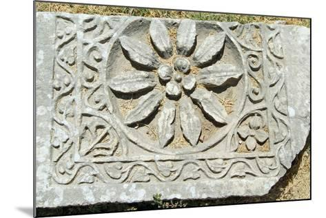 Decorative Carved Floral Design, Xanthos, Turkey--Mounted Photographic Print