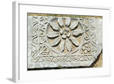 Decorative Carved Floral Design, Xanthos, Turkey--Framed Art Print