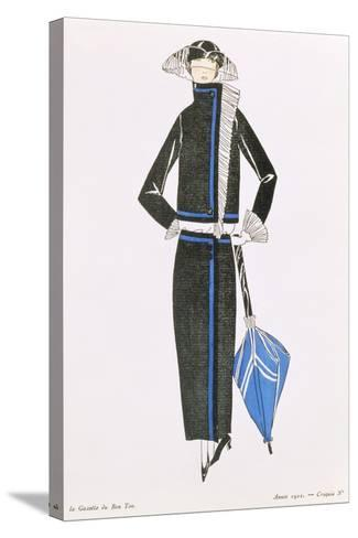 """Gazette Du Bon Ton""; No.4, Afternoon Dress, 1922--Stretched Canvas Print"