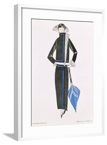"""Gazette Du Bon Ton""; No.4, Afternoon Dress, 1922--Framed Art Print"
