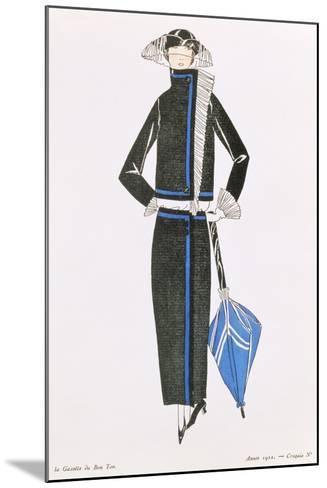 """""""Gazette Du Bon Ton""""; No.4, Afternoon Dress, 1922--Mounted Giclee Print"""