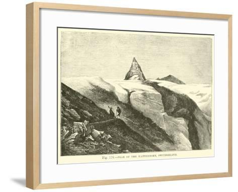Peak of the Matterhorn, Switzerland--Framed Art Print