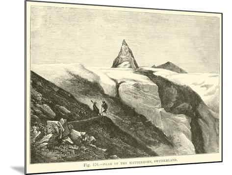 Peak of the Matterhorn, Switzerland--Mounted Giclee Print
