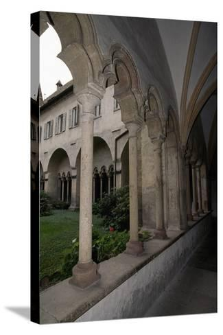 View of Cloister of Franciscan Church--Stretched Canvas Print
