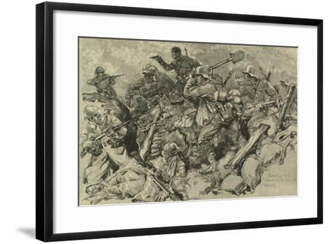 German Troops Attacking French Front Line--Framed Art Print