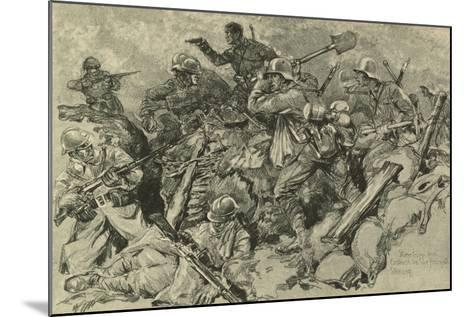 German Troops Attacking French Front Line--Mounted Giclee Print