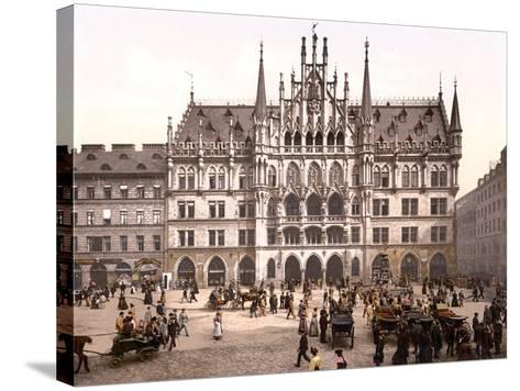 Munich City Hall, Pub. C.1895--Stretched Canvas Print