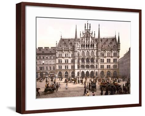 Munich City Hall, Pub. C.1895--Framed Art Print