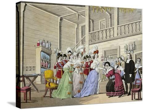 Scene from Opera I Puritani--Stretched Canvas Print