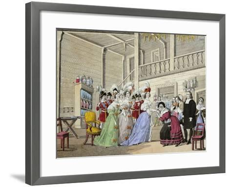 Scene from Opera I Puritani--Framed Art Print