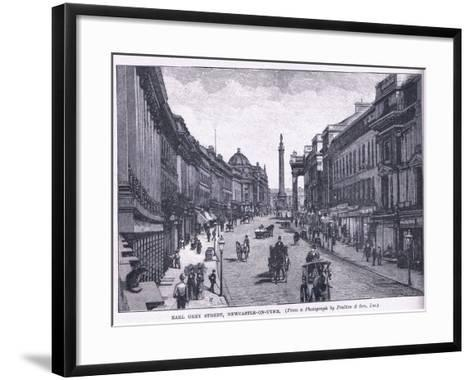 Earl Grey Street, Newcastle Upon Tyne--Framed Art Print
