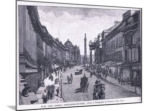 Earl Grey Street, Newcastle Upon Tyne--Mounted Giclee Print