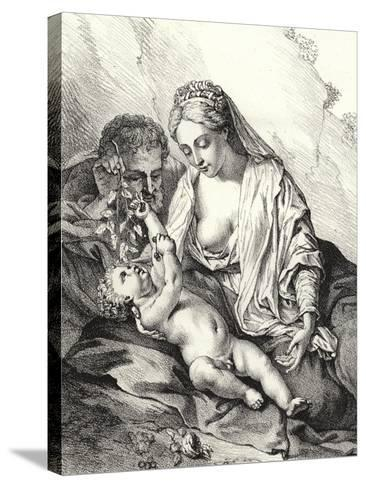 The Holy Family-Adriaan van der Werff-Stretched Canvas Print