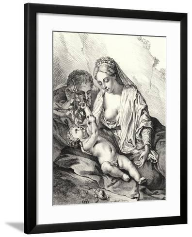 The Holy Family-Adriaan van der Werff-Framed Art Print