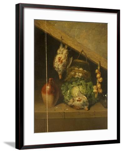 Still Life of a Hanging Bird, a Jar and a Cabbage-Benjamin Blake-Framed Art Print