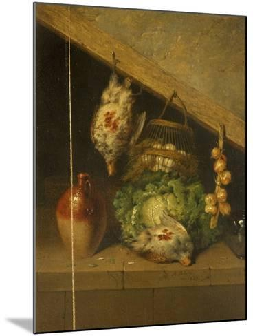 Still Life of a Hanging Bird, a Jar and a Cabbage-Benjamin Blake-Mounted Giclee Print