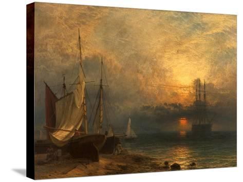 Waiting for the Tide, Sunset, 1866-Henry Dawson-Stretched Canvas Print