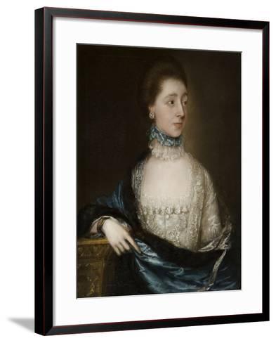 Unknown Lady with a Blue Cloak, C.1765-Thomas Gainsborough-Framed Art Print