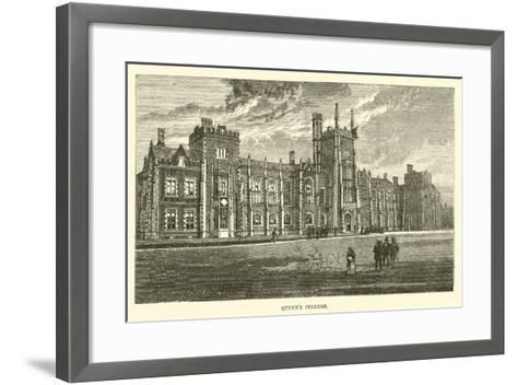 Queen's College--Framed Art Print