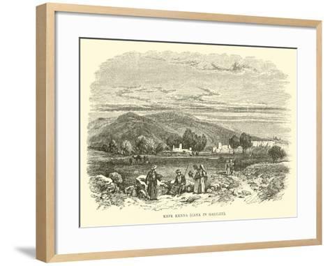 Kefr Kenna, Cana in Galilee--Framed Art Print