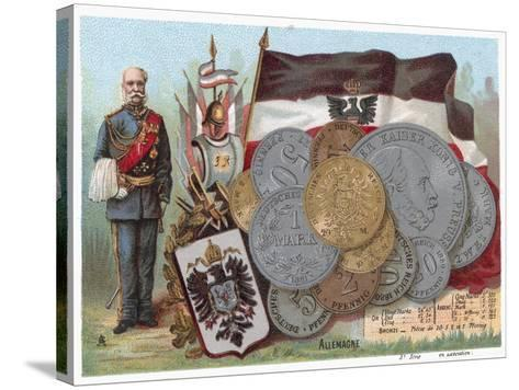 German Currency--Stretched Canvas Print