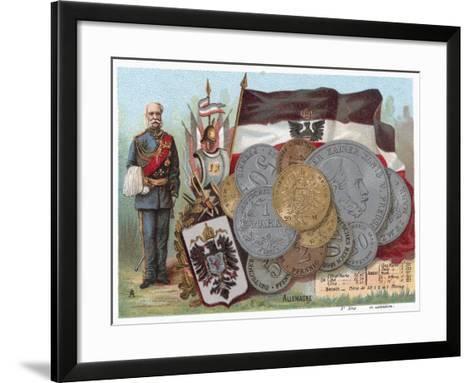 German Currency--Framed Art Print