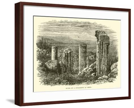 Ruins of a Synagogue at Irbid--Framed Art Print