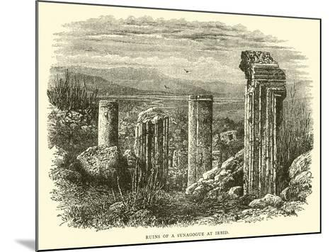Ruins of a Synagogue at Irbid--Mounted Giclee Print