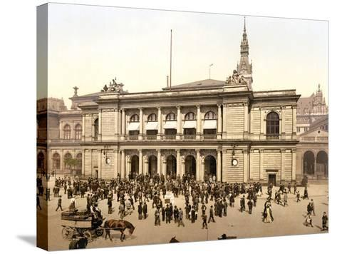 The Covered Market in Hamburg, C.1895--Stretched Canvas Print