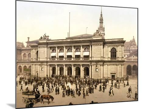 The Covered Market in Hamburg, C.1895--Mounted Photographic Print