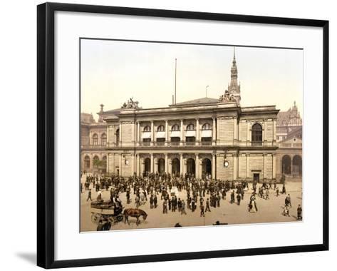 The Covered Market in Hamburg, C.1895--Framed Art Print