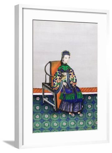 Portrait of a Chinese Woman--Framed Art Print