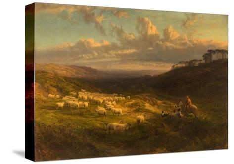 The Closing Day, Scene in Sussex, 1872-George Vicat Cole-Stretched Canvas Print