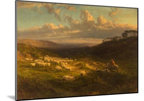 The Closing Day, Scene in Sussex, 1872-George Vicat Cole-Mounted Giclee Print