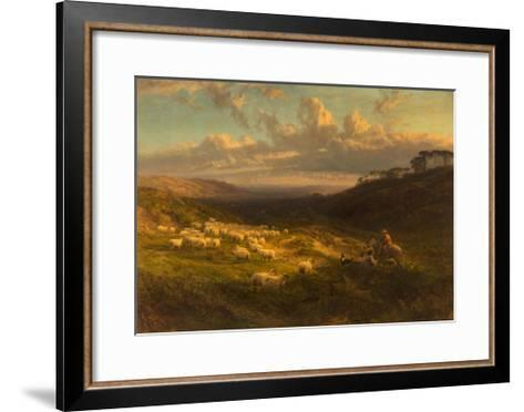 The Closing Day, Scene in Sussex, 1872-George Vicat Cole-Framed Art Print